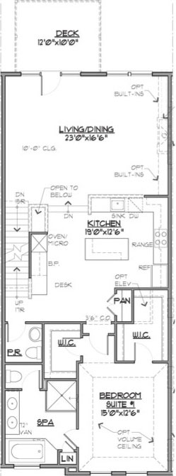 Newport Floor Plan Main Level