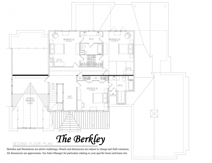 Berkley Floor Plan 2nd Floor