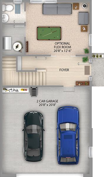 Espresso Floor Plan Basement Level