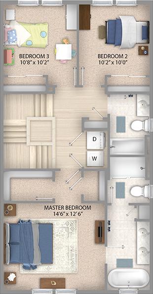 Espresso Floor Plan Bedroom Level