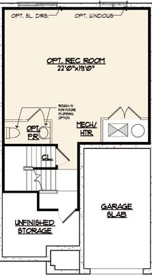 Jamestown Floor Plan Basement Level