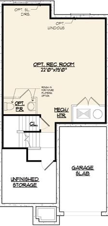 Jamestown II Floor Plan Basement