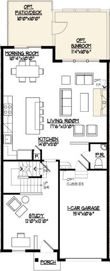 Jamestown II Floor Plan Main Level