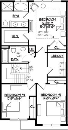 Jamestown II Floor Plan 3 Bed Level