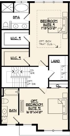 Jamestown II Floor Plan 2 Bedroom Option
