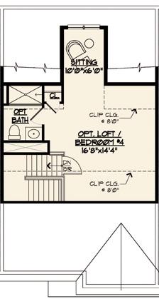Jamestown Floor Plan Optional Loft Level