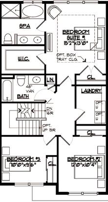Jamestown Floor Plan Bedroom Level