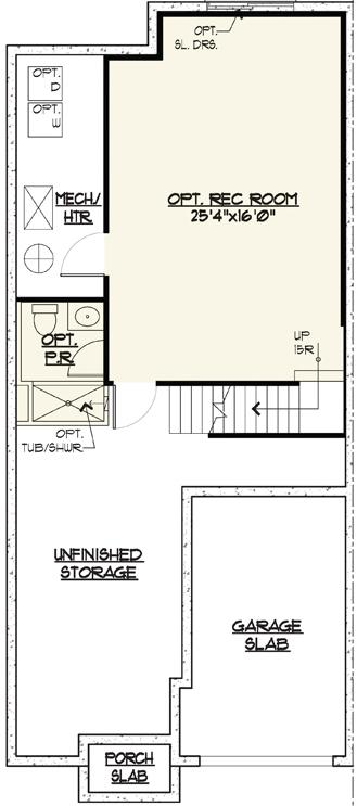 Marion Floor Plan Basement Level
