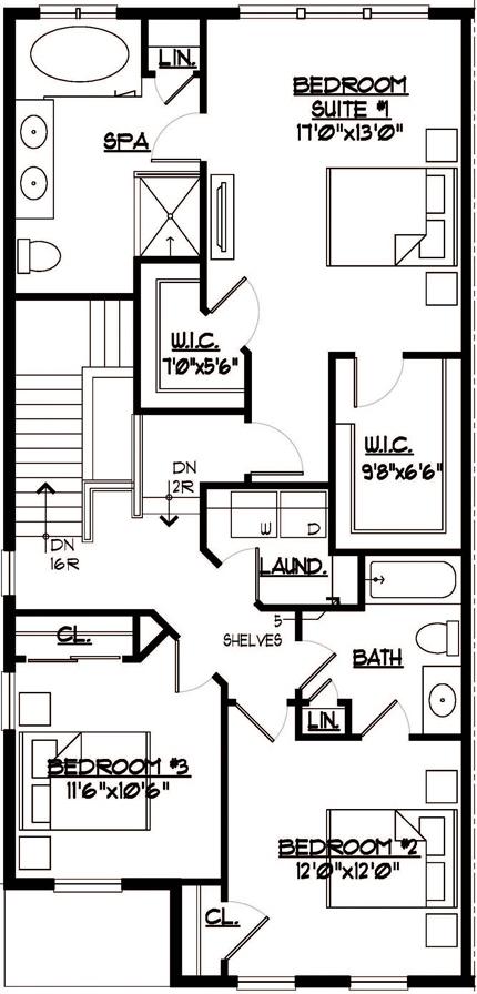 Somerset Floor Plan Bedroom Level