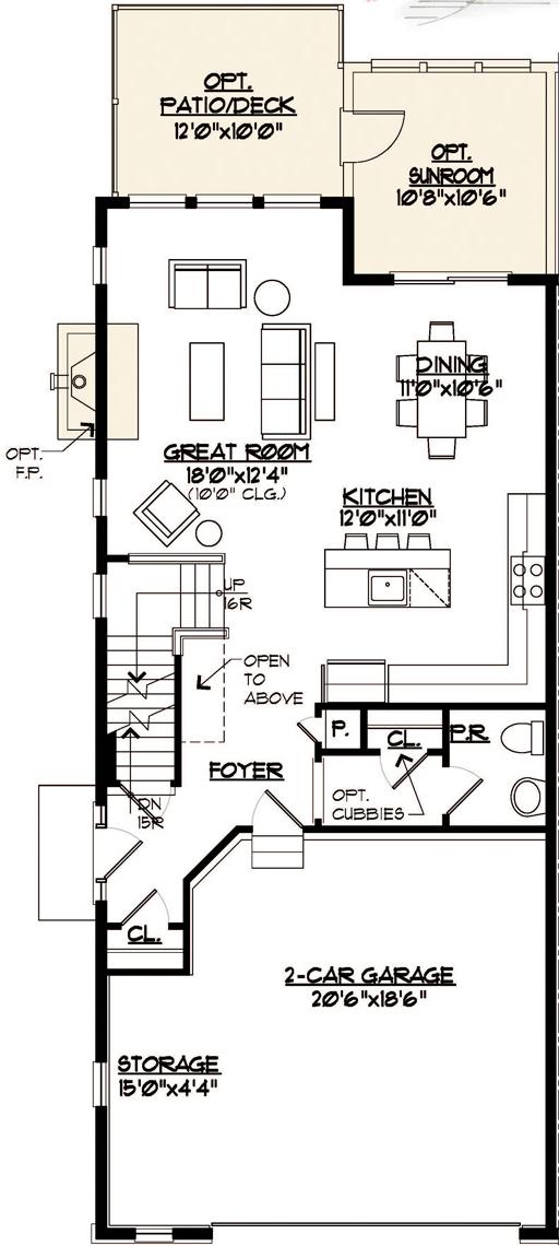 Somerset Floor Plan Main Level