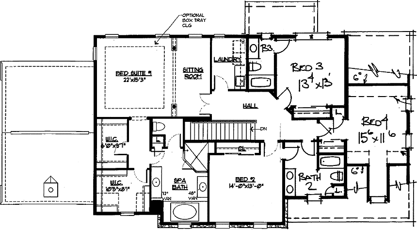 Linden Floor Plan 2nd Floor