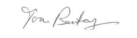 Tom Bentley signature
